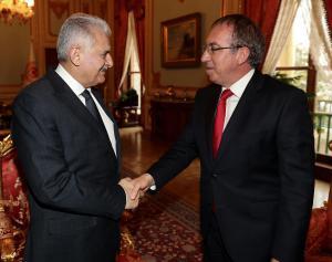 Türkiye Büyük Millet Meclisi Başkanı Sayın Binali Yıldırım Büyükelçi Kemal Köprülü'yü makamında kabul etti
